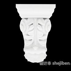 白色石材建筑构件3d模型下载