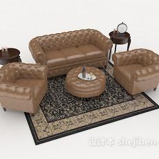 新古典家居组合沙发3d模型下载