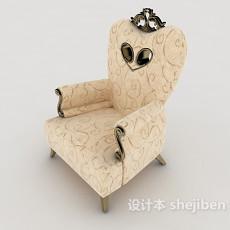 浅色欧式靠背沙发3d模型下载