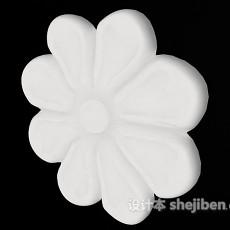 白色欧式石膏灯盘3d模型下载