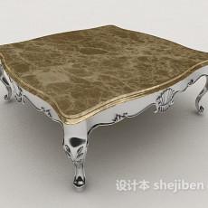 欧式家居型茶几3d模型下载