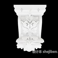 白色简单石膏构件3d模型下载