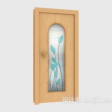 常见浴室房门3d模型下载