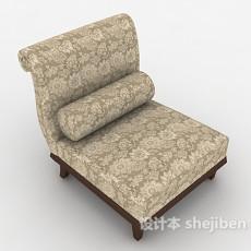 新古典单人沙发3d模型下载