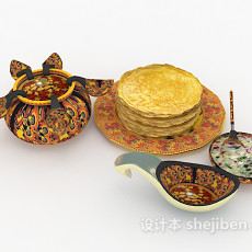 东南亚异域食物3d模型下载