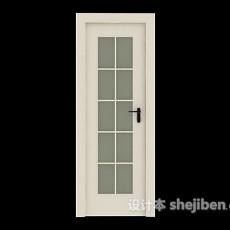 白色浴室房门3d模型下载