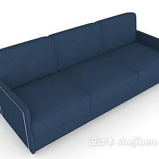 三人蓝色沙发3d模型下载