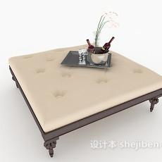 欧式古典茶几3d模型下载