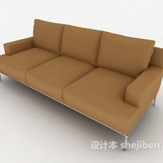 简易居家三人沙发3d模型下载