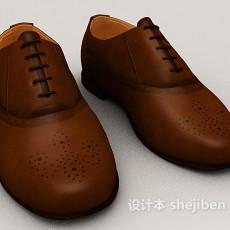文艺清新平底皮鞋3d模型下载
