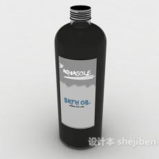 黑色塑料瓶3d模型下载