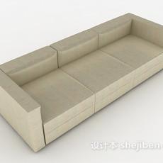 现代黄色多人沙发3d模型下载