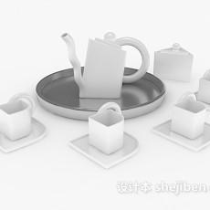 整套茶杯杯具3d模型下载