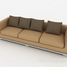 三人简约沙发3d模型下载