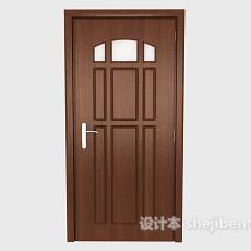 简约棕色实木房门3d模型下载
