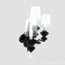 欧式风格古典壁灯3d模型下载
