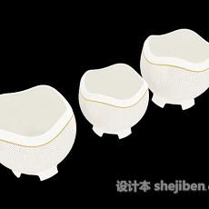 白色陶瓷器具3d模型下载