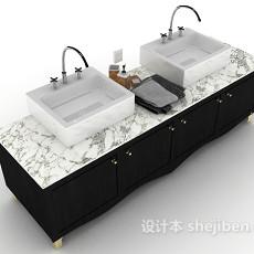 浴柜、洗手池3d模型下载
