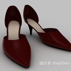 女士尖跟鞋3d模型下载