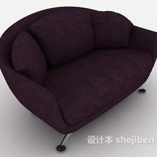 紫色单人休闲椅3d模型下载