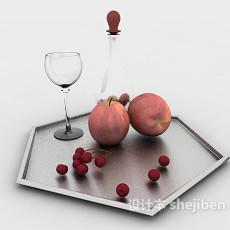 菱角水果盘3d模型下载