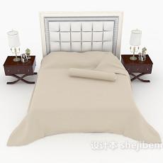 新古典风情双人床3d模型下载