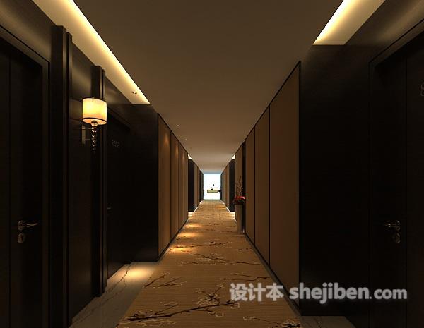 酒店宾馆走廊过道