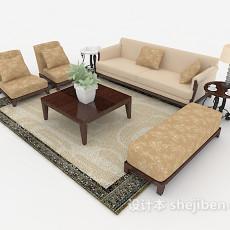 新中式家具组合沙发3d模型下载