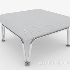 欧式风格沙发凳3d模型下载