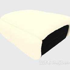浅色沙发凳3d模型下载