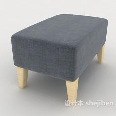 现代风格简单沙发凳3d模型下载