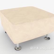 简单居家沙发凳3d模型下载