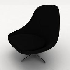 U型椅3d模型下载