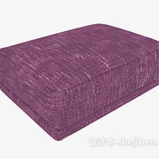 紫色沙发凳3d模型下载