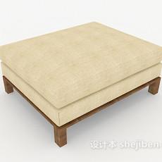 现代简约沙发凳3d模型下载