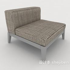 格纹布单人沙发3d模型下载