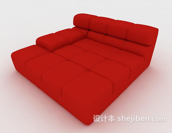 大红色懒人沙发