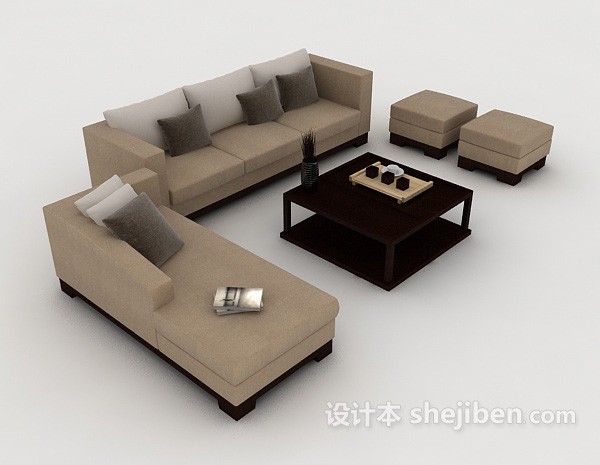 新中式简约组合沙发