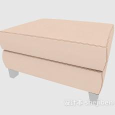 家居型沙发凳3d模型下载