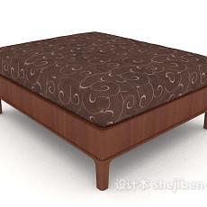 现代家居沙发凳3d模型下载