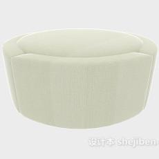 简单现代沙发凳3d模型下载