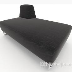 黑色沙发凳3d模型下载