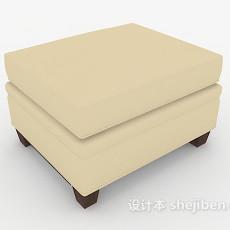 现代简约浅色沙发凳3d模型下载