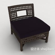 编织单人休闲椅3d模型下载
