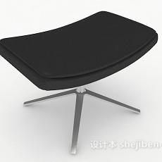 简单黑色沙发凳3d模型下载