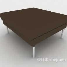 简约沙发凳3d模型下载