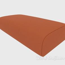 简约棕色沙发凳3d模型下载