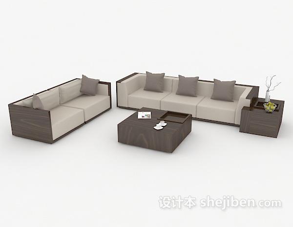 新中式沙发茶几