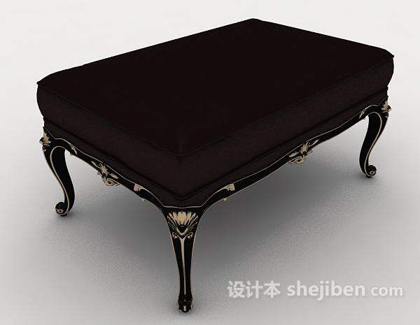 欧式花边沙发凳