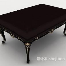 欧式花边沙发凳3d模型下载
